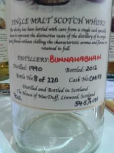la bottiglia 8 di 220 immolata allo Spirit of Scotland