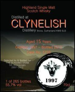 Clynelish 1997/2012 (The Bonding Dram, 55,7%)