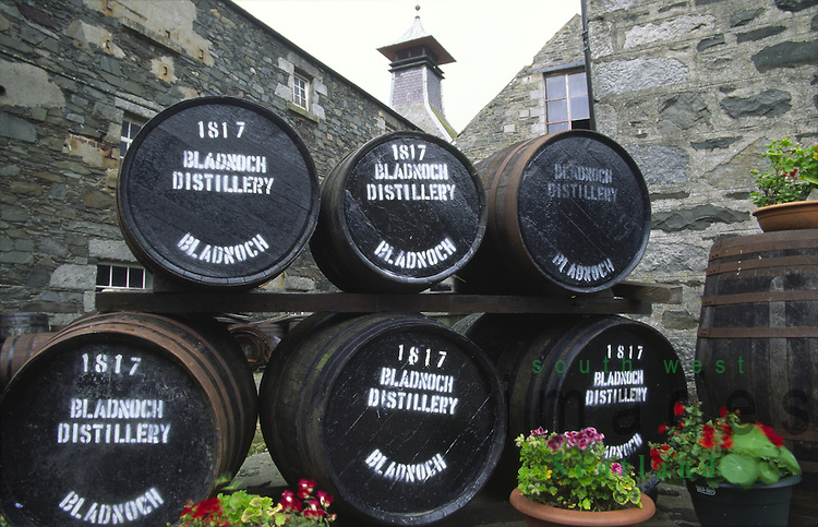 Scotlands most southerly whisky distillery Bladnoch Whisky Distillery on the River Bladnoch near Wigtown Galloway Scotland UK