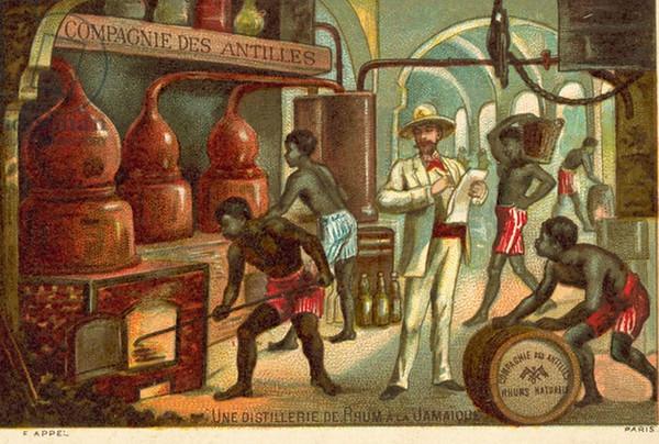 Rum distillery 19th centuary-M